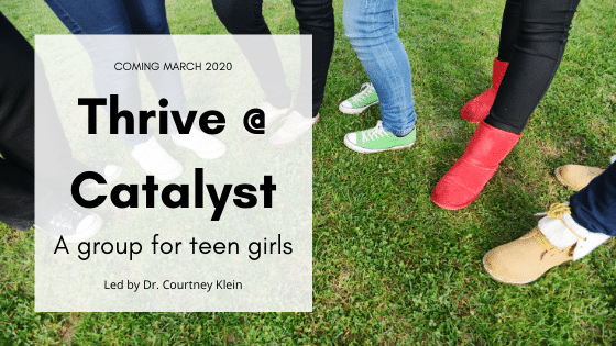 Dr. Klein's Teen Group for Girls Beginning March!